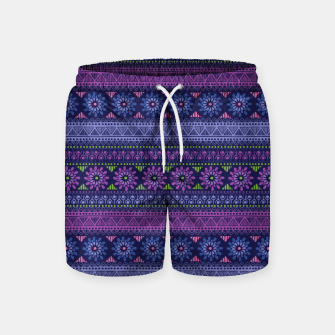Thumbnail image of Tribal Pattern - 02 Violet Swim Shorts, Live Heroes