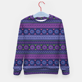 Thumbnail image of Tribal Pattern - 02 Violet Kid's sweater, Live Heroes