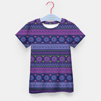 Thumbnail image of Tribal Pattern - 02 Violet Kid's t-shirt, Live Heroes