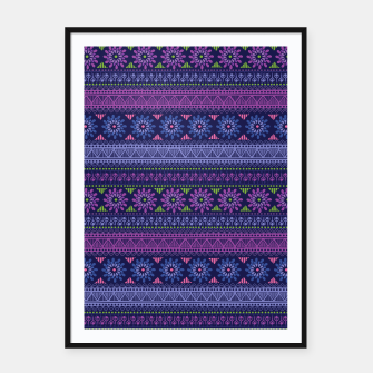 Thumbnail image of Tribal Pattern - 02 Violet Framed poster, Live Heroes