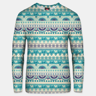 Thumbnail image of Tribal Pattern - 03 Light Blue Unisex sweater, Live Heroes