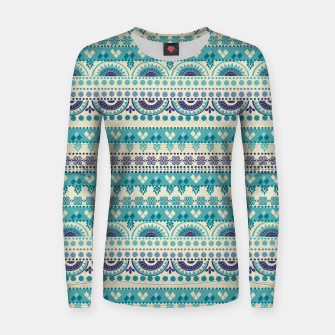 Thumbnail image of Tribal Pattern - 03 Light Blue Women sweater, Live Heroes