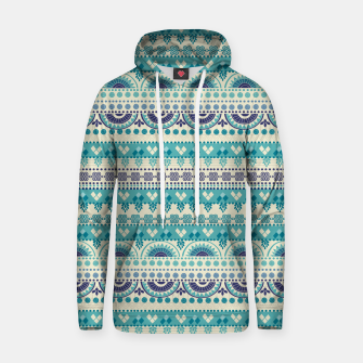 Thumbnail image of Tribal Pattern - 03 Light Blue Hoodie, Live Heroes