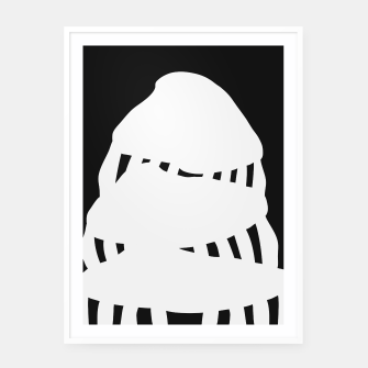 Thumbnail image of Mushroom Trapezoid Framed poster, Live Heroes