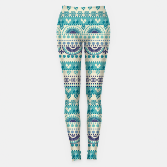 Thumbnail image of Tribal Pattern - 03 Light Blue Leggings, Live Heroes