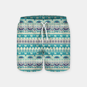 Thumbnail image of Tribal Pattern - 03 Light Blue Swim Shorts, Live Heroes