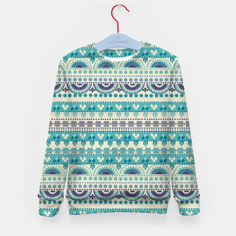 Thumbnail image of Tribal Pattern - 03 Light Blue Kid's sweater, Live Heroes