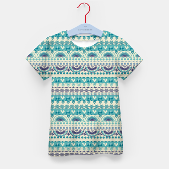 Thumbnail image of Tribal Pattern - 03 Light Blue Kid's t-shirt, Live Heroes