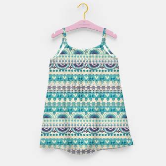 Thumbnail image of Tribal Pattern - 03 Light Blue Girl's dress, Live Heroes