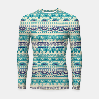 Thumbnail image of Tribal Pattern - 03 Light Blue Longsleeve rashguard , Live Heroes