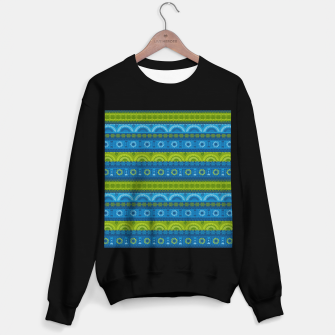 Thumbnail image of Tribal Pattern - 04 Lime Blue Sweater regular, Live Heroes
