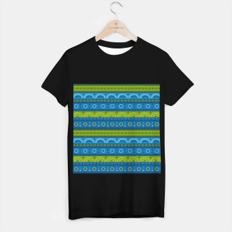 Thumbnail image of Tribal Pattern - 04 Lime Blue T-shirt regular, Live Heroes