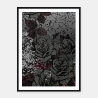 Thumbnail image of Cemetery of roses Framed poster, Live Heroes