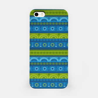 Thumbnail image of Tribal Pattern - 04 Lime Blue iPhone Case, Live Heroes