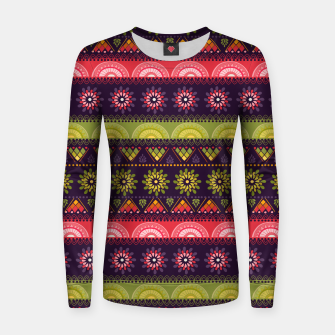 Thumbnail image of Tribal Pattern - 05 Lime Red Women sweater, Live Heroes