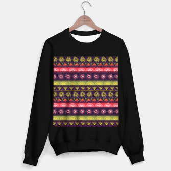 Thumbnail image of Tribal Pattern - 05 Lime Red Sweater regular, Live Heroes
