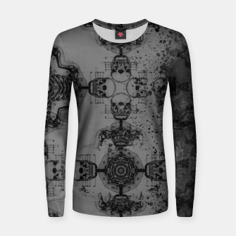 Thumbnail image of Skull cross, Gothic Metal Pattern Women sweater, Live Heroes