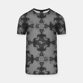 Thumbnail image of Skull cross, Gothic Metal Pattern T-shirt, Live Heroes
