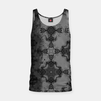 Thumbnail image of Skull cross, Gothic Metal Pattern Tank Top, Live Heroes