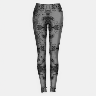 Thumbnail image of Skull cross, Gothic Metal Pattern Leggings, Live Heroes