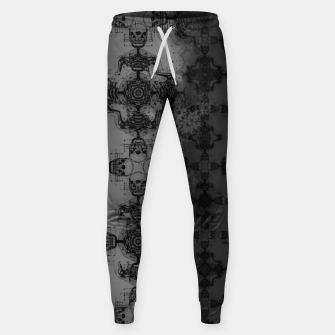 Thumbnail image of Skull cross, Gothic Metal Pattern Sweatpants, Live Heroes