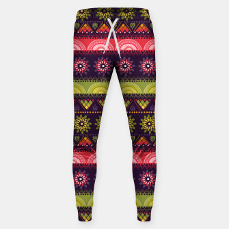 Thumbnail image of Tribal Pattern - 05 Lime Red Sweatpants, Live Heroes