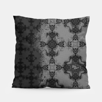 Thumbnail image of Skull cross, Gothic Metal Pattern Pillow, Live Heroes