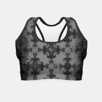 Thumbnail image of Skull cross, Gothic Metal Pattern Crop Top, Live Heroes