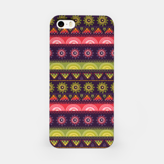 Thumbnail image of Tribal Pattern - 05 Lime Red iPhone Case, Live Heroes