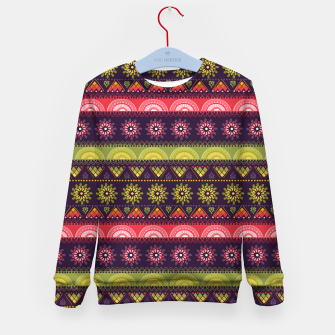 Thumbnail image of Tribal Pattern - 05 Lime Red Kid's sweater, Live Heroes