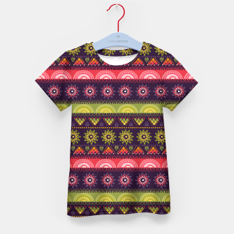 Thumbnail image of Tribal Pattern - 05 Lime Red Kid's t-shirt, Live Heroes