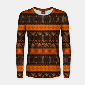 Thumbnail image of Tribal Pattern - 06 Tangerine Dream Women sweater, Live Heroes