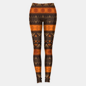 Thumbnail image of Tribal Pattern - 06 Tangerine Dream Leggings, Live Heroes