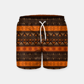 Thumbnail image of Tribal Pattern - 06 Tangerine Dream Swim Shorts, Live Heroes