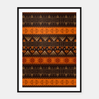 Thumbnail image of Tribal Pattern - 06 Tangerine Dream Framed poster, Live Heroes
