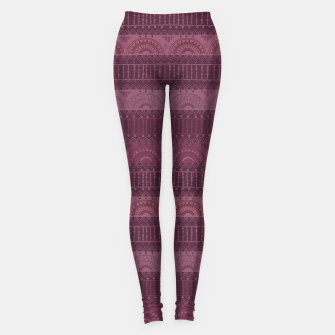 Thumbnail image of Tribal Pattern - 07 Burgundy Leggings, Live Heroes