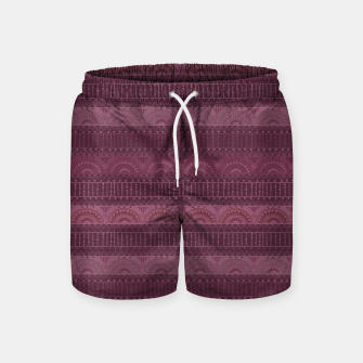 Thumbnail image of Tribal Pattern - 07 Burgundy Swim Shorts, Live Heroes