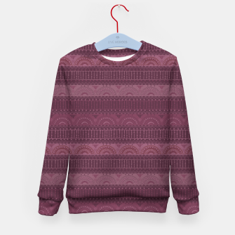 Thumbnail image of Tribal Pattern - 07 Burgundy Kid's sweater, Live Heroes