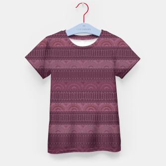Thumbnail image of Tribal Pattern - 07 Burgundy Kid's t-shirt, Live Heroes