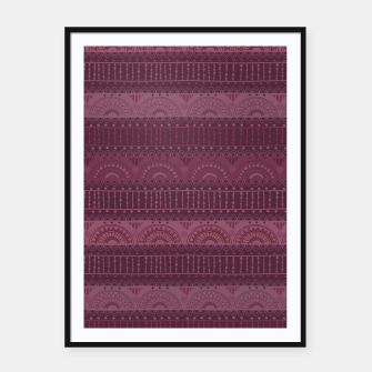 Thumbnail image of Tribal Pattern - 07 Burgundy Framed poster, Live Heroes