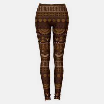 Thumbnail image of Tribal Pattern - 08 Dark Brown Leggings, Live Heroes