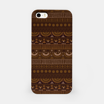 Thumbnail image of Tribal Pattern - 08 Dark Brown iPhone Case, Live Heroes