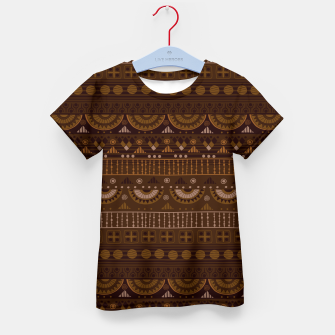 Thumbnail image of Tribal Pattern - 08 Dark Brown Kid's t-shirt, Live Heroes