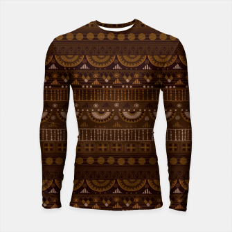 Thumbnail image of Tribal Pattern - 08 Dark Brown Longsleeve rashguard , Live Heroes
