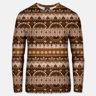 Thumbnail image of Tribal Pattern - 09 Light Brown Unisex sweater, Live Heroes