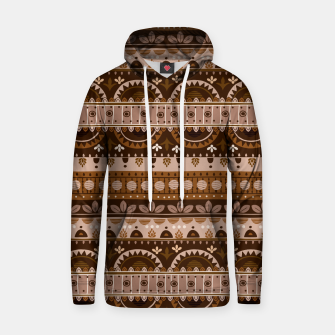 Tribal Pattern - 09 Light Brown Hoodie thumbnail image