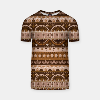 Tribal Pattern - 09 Light Brown T-shirt thumbnail image
