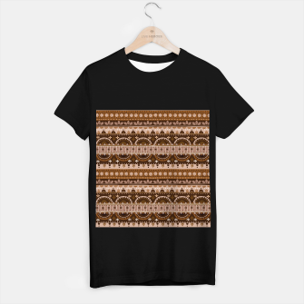 Tribal Pattern - 09 Light Brown T-shirt regular thumbnail image
