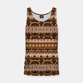 Thumbnail image of Tribal Pattern - 09 Light Brown Tank Top, Live Heroes