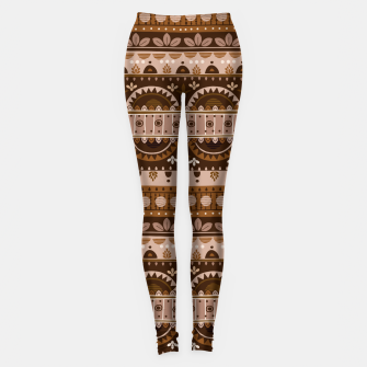 Tribal Pattern - 09 Light Brown Leggings thumbnail image